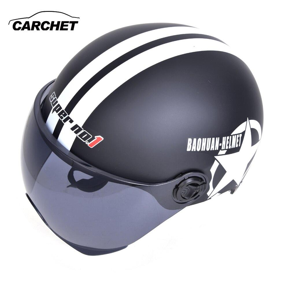 CARCHET Moto Modulare Casco Aperto del Fronte 55-60 cm Casco Integrale Motocross Corsa Unisex Moto Helm Casco Accessori