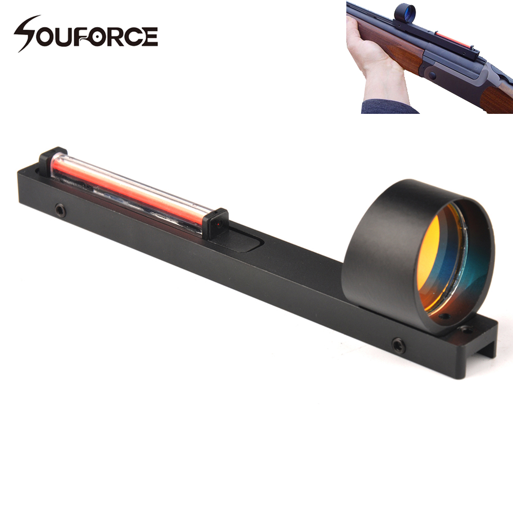 New 1x25 Red Fiber Red Dot Sight Scope Holographic Sight Fit Shotgun Rib Rail Hunting Shooting Hunting Accessory