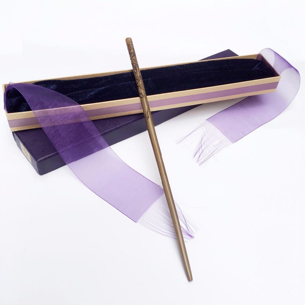 New Arrive Metal Iron Core Luna Lovegood Wand  HP Magic Magical Wand  Elegant Ribbon Gift Box Packing