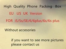 10 шт./Высокое качество США/ЕС Версия чехол для телефона упаковочная коробка чехол для телефона SE/6/6 S/6SP без аксессуаров пустая упаковка коробка