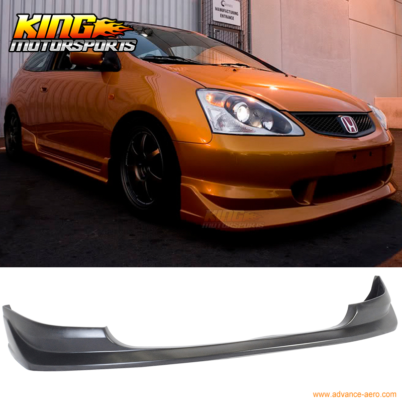 For Honda Civic Si Dr Usdm Hatchback Aw Style Front Bumper Lip on Honda Civic Bumper Replacement
