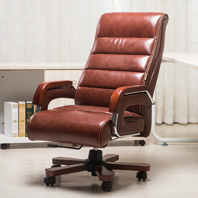 High Quality Leather Swivel Office Chair Smart Electric Massage Chair Lifting Lengthen Backrest Cadeira Bureaustoel Ergonomisch