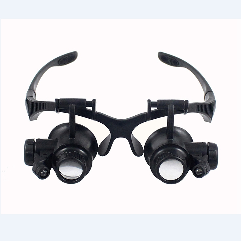 Headband Watch Repair Magnifier 10X 15X 20X 25X LED Light Glasses Watchmaker Jewelry Adjust Optical Lens Glass Magnifier Loupe окуляр для зрительных труб nikon prostaff 5 20x 25x