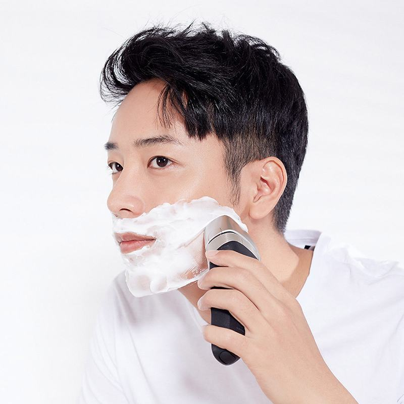 IPX7 Waterproof Fast Charging Smart Electric Shaver Floating Reciprocating Men Barber Tool Shaving Shaver Stainless Steel - 2