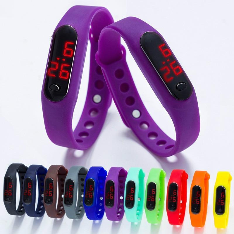 Wholesale 100pcs/lot Unisex Bracelet Watches Brand Luxury Casual Rubber LED Womens Mens Date Sports Bracelet Digital Wrist Watch
