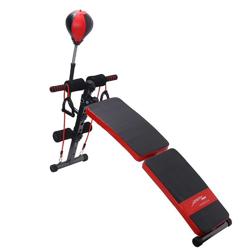 Fitnessy multi-function folding arc-shaped supine board with a gym equipment sit up bench