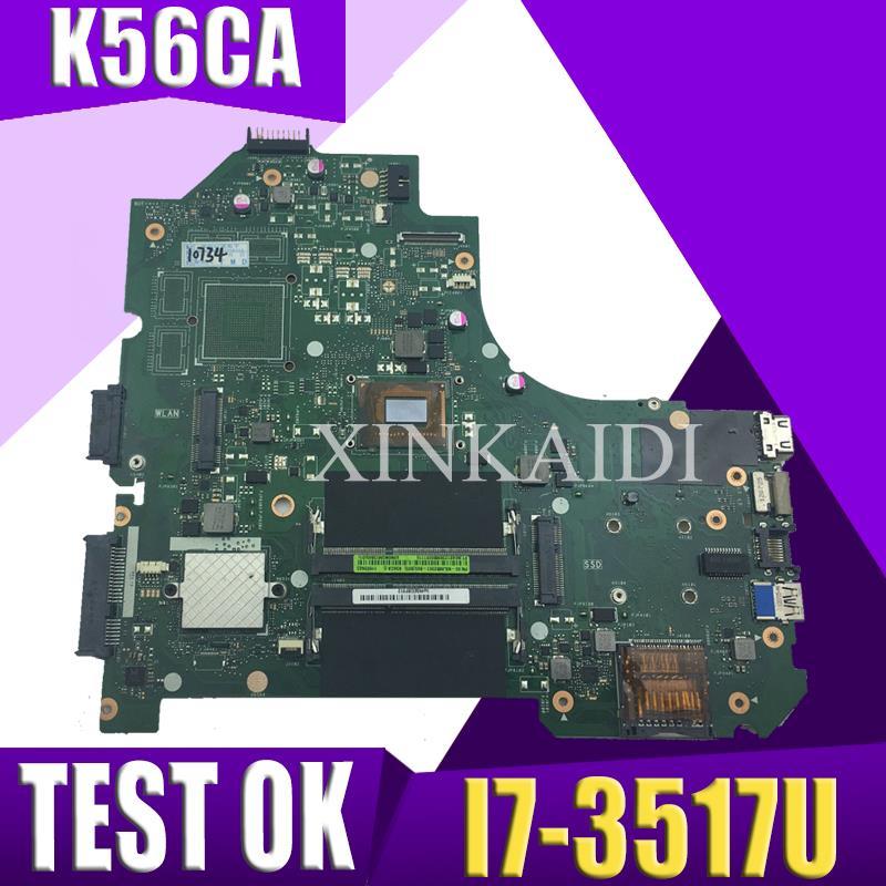 XinKaidi  K56CA Laptop motherboard para ASUS K56CA K56CM K56CB K56C K56 S550CA original Teste motherboard I7-3517UXinKaidi  K56CA Laptop motherboard para ASUS K56CA K56CM K56CB K56C K56 S550CA original Teste motherboard I7-3517U