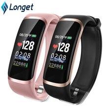 Longet relógio inteligente m4/t6 monitor de freqüência cardíaca monitor sono relógio de fitness pressão arterial bluetooth pulseira inteligente das mulheres dos homens esporte