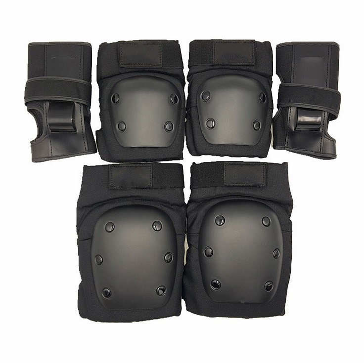 Extreme Sports 6pcs/Set Knee Wrist Elbow Protective Suit Pad, For Inline Roller Skates Trainning