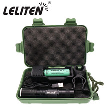 3800 Lumen XML T6 Mini portable Zoom Led Flashlight Zooming torch Night Hiking Lighting Lantern For Bicycle clip