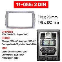 11-055 Радио панель для CHRYSLER 300C DODGE зарядное устройство JEEP Grand Cherokee Двухканальное Радио DVD стерео CD панель черточки Топ