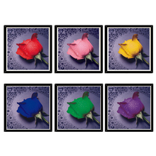 5D DIY Diamond Painting Square Full Diamonds Pasting 3D Cross Stitch Kit Water Rose Round Fill Picture Mosaic
