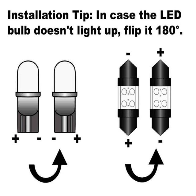 17Pcs Canbus White LED Lights Bulbs Interior Package Kit For 2005-2010 Chrysler 300 300C 300M Map Dome Trunk License Plate Light 5