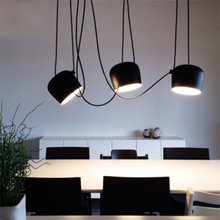 Nordic Loft Small Drum Pendant Lights Led Pendant Lamp Living Room Restaurant Cafe Bar Hanging Light Fixtures Luminaire Lighting nepal dining room pendant light bar counter colorful beads pendant lamp nordic restaurant balcony hanging lighting fixtures