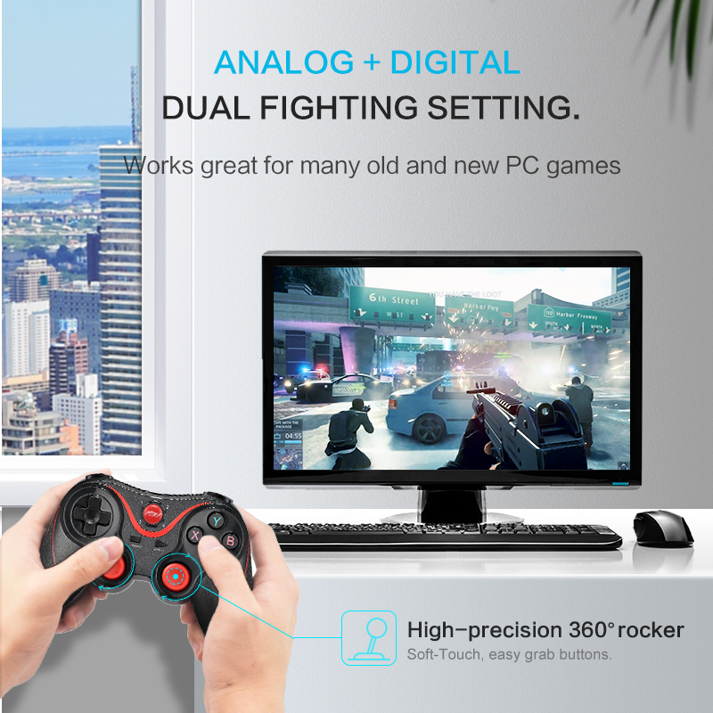 Image 2 - Data Frog Wireless Bluetooth Gamepad Support Official App Game Controller For iphone Android Smart Phone For PS3 PC TV Box-in Gamepads from Consumer Electronics