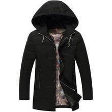 Плюс размер 8XL 7XL 6XL 5XL 4XL 3XL мужская зимний пуховик случайные теплая куртка мужчины белая утка вниз мужчины твердые мужская зимнее пальто