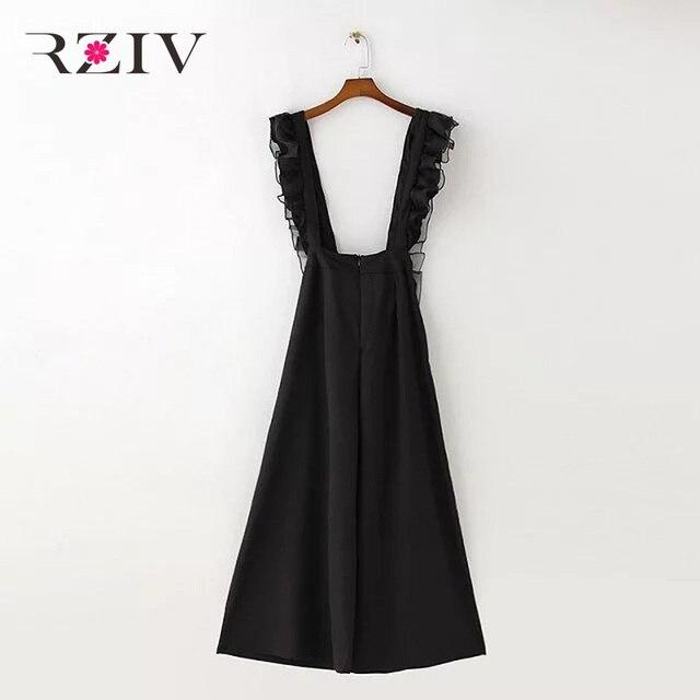 RZIV 2016 летний Отдых и сплошной цвет Воланами женский Bib в целом