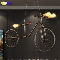 Фумат нордический Лофт светильник в форме водопроводных труб железа ретро подвесной светильник для ресторана велосипедов Lampara кафе бар вин