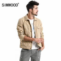SIMWOOD Brand Jacket Men 2019 New Spring Casual Thin jacket Men Fashion Plus Size Outerwear High Quality Coats 180065