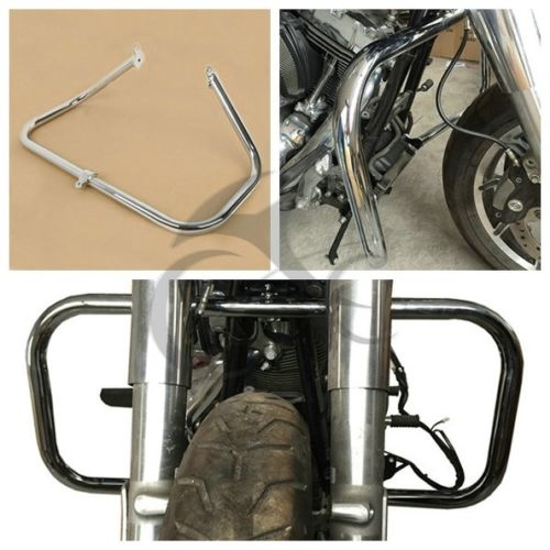 Engine Crash Guard Bar For Harley Touring Models FLHT FLHX FLHR FLTR Road King Street Electra Glide Ultra 2009-18 motorbike parts saddle shield heat deflector for harley touring road king street glide trike flht fltr flhr 2009 2016 chrome
