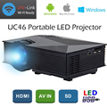 UC46 LCD Projector 1200Lumens 2.4G WiFi Wireless Portable  LED Home Theater Cinema Multimedia 1080P USB/SD/AV/HDMI/VGA/IR UC40