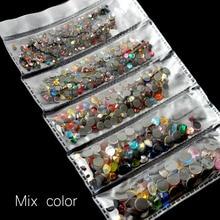 Новая упаковка 1200 шт смешанные размеры Горячая фиксация Стразы Блестящий Кристалл SS6-SS30 для одежды DIY