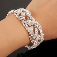 High Quality 925 Sterling Silver Bracelets For Women Crystal CZ Diamond Wedding Bride Jewelry Rhinestone Female