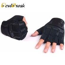 Осенне-зимние тактические перчатки для детей от 5 до 13 лет детские варежки с полупальцами для мальчиков и девочек, противоскользящие спортивные перчатки черного цвета