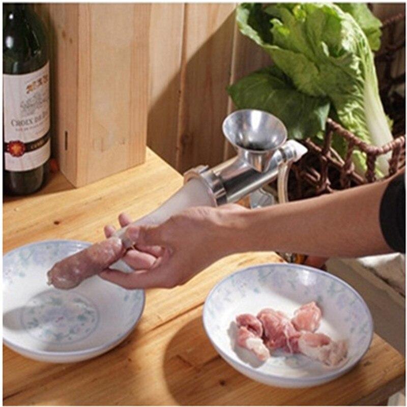 ?Home use mini manual ? meat meat grinder mincer machine sausage sausage stuffer - us453