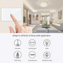 Geeklink Smart Home US 1 Gang WiFi Smart Switch Wall Light Touch Feedback Panel APP Remote Control Work for Alexa Google Home us standard 1 2 3 4 gang smart wifi light switch app remote control smart home wireless wall touch switch
