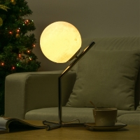 3D Printing Moon Night Lamp USB Charge LED Lamp Home Decoration Bedroom Lampe De Table Lamp Creative Gift