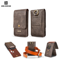Retro Leather Hook Pouch Phone Bag Belt Holster Cover Flip Wallet Phone Case For Samsung S9