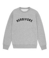 Sugarbaby Herbivore Sweatshirt Vegan Jumper Long Sleeve Fashion Casual Tops Veganisum Veggie Sweatshirt High quality Jumper ladder cutout sleeve jumper