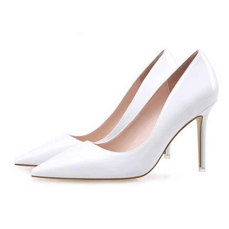 b1c39d7b41 2018 new Brand Shoes Woman High Heels Pumps elegant Women Shoes Heels  Wedding Shoes Pumps Shoes Heels zapatos mujer k586