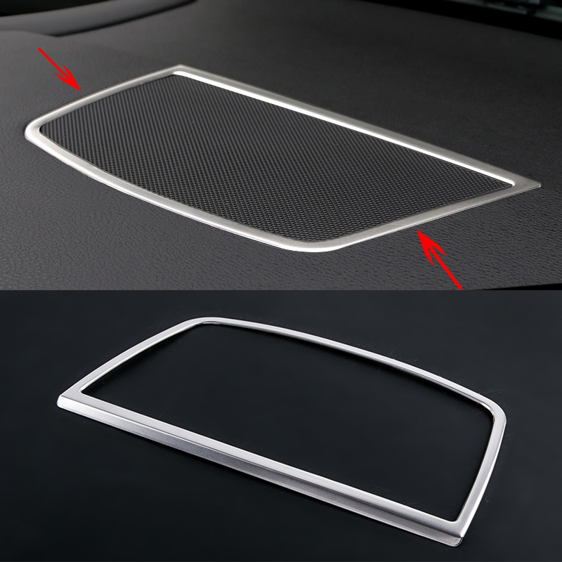 Car-styling Center Control Console Dashboard Speaker Cover Trim frame For BMW X5 X6 F15 F16 E70 E71 Accessories for vauxhall opel astra j 2010 2014 stainless steel window frame moulding trim center pillar protector car styling accessories