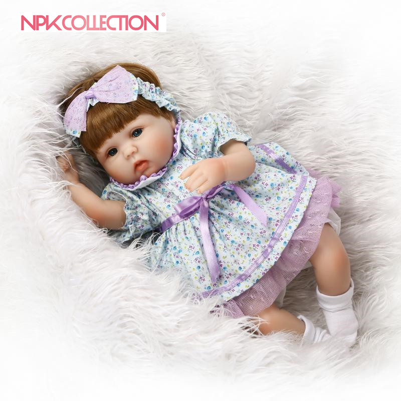 NPK Lifelike 18 Reborn Lovely Baby Doll With Fashion Wig Hair Doll Best Gift For Children On Birthday and Christmas