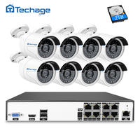 Techage H 265 4 0 Megapixel 2592 1520 IP PoE Video Security Surveillance System Kit 8