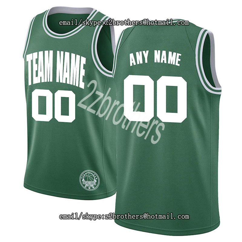 Custom Boston Basketball Jersey Personalized High School College Term Logo Embroidered Your Own Name Number for Men Women Kid