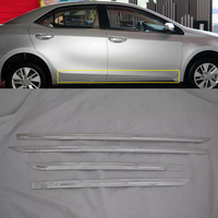2018 ABS Plastic side door moulding cover Decoration Trim 4pcs For TOYOTA COROLLA 2017