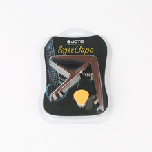 JOYO JCP-01 Wood Grain Light Guitar Capo Quick Change Clamp Key Plastic Steel for Acoustic Electric Guitar Ukulele 1 Gift Pick