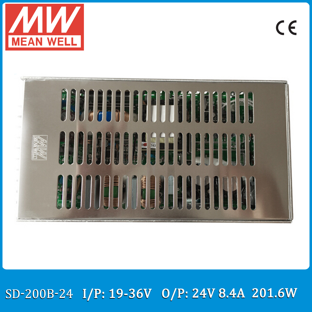 Original MEAN WELL SD-200B-24 Single Output 200W 8.4A 24VDC Input 19~36VDC meanwell dc/dc converter 200b