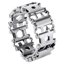 Hottime Wearable Loopvlak 29 In 1 multifunctionele Armband Band multifunctionele Schroevendraaier Outdoor Emergency Kit Multi Tool