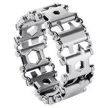 Hottime Wearable Tread 29 In 1 Multi function Bracelet Strap Multi function Screwdriver Outdoor Emergency Kit Multi Tool