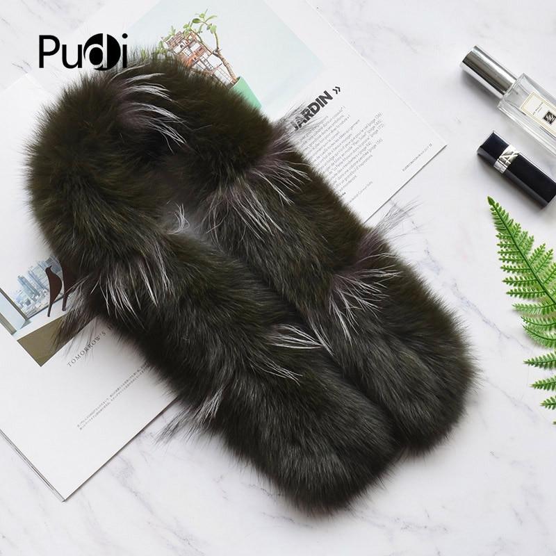 Pudi SF807 woman real fox fur   scarf   208 new brand girl genuine fox fur   scarves     wrap   shawl patchwork with silver fox