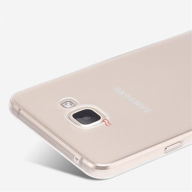 Ультратонкий Мягкий ТПУ прозрачный чехол для Samsung Galaxy A3 A5 A7 A8 A9 2016 A310F A510F A710F Note 2 3 4 5 Note5