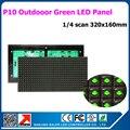 36 шт./лот открытый 32*16 пикселей p10 зеленый светодиодный дисплей модуль моно светодиодный дисплей рекламный щит зеленый сообщение привело вывеска p10