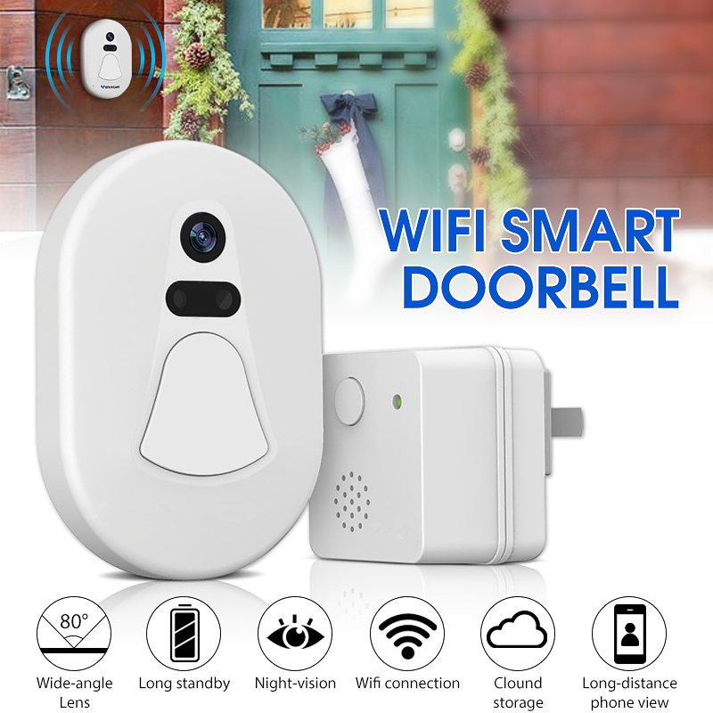 WiFi Visual Smart Doorbell Security Night Vision Recording Visit WIFI/RF Transmission Alarm for Burglarizing For Android iOSWiFi Visual Smart Doorbell Security Night Vision Recording Visit WIFI/RF Transmission Alarm for Burglarizing For Android iOS
