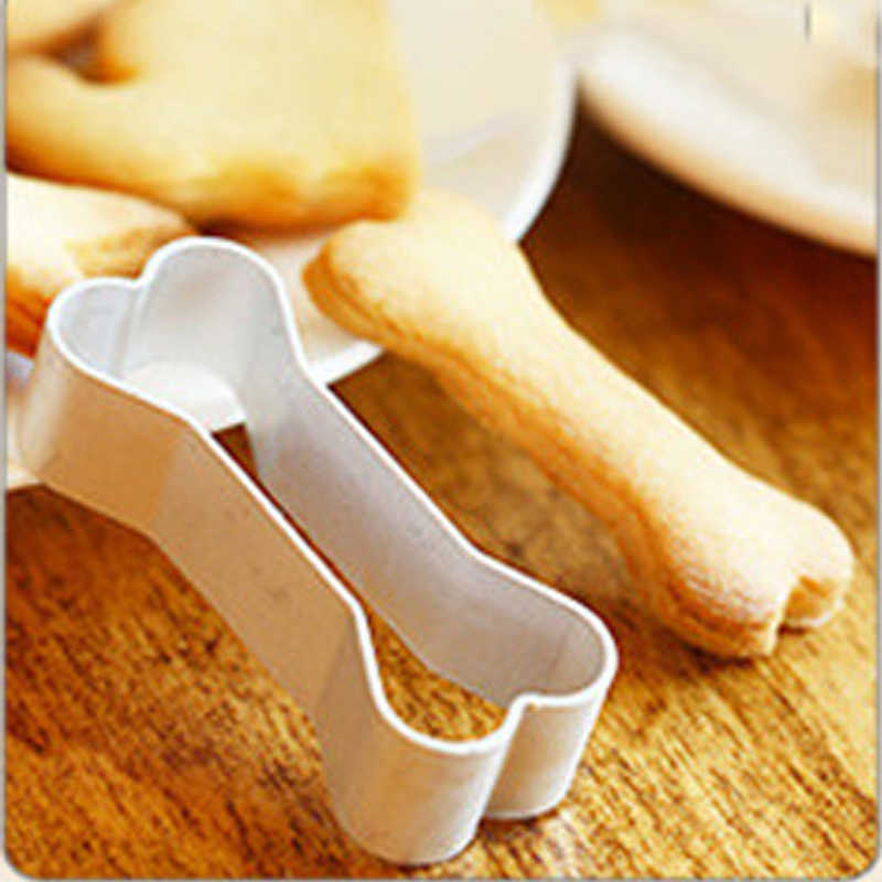 アルミニウム型犬好きな骨形状クッキーケーキデコレーション合金カッター錫ベーキングモールド