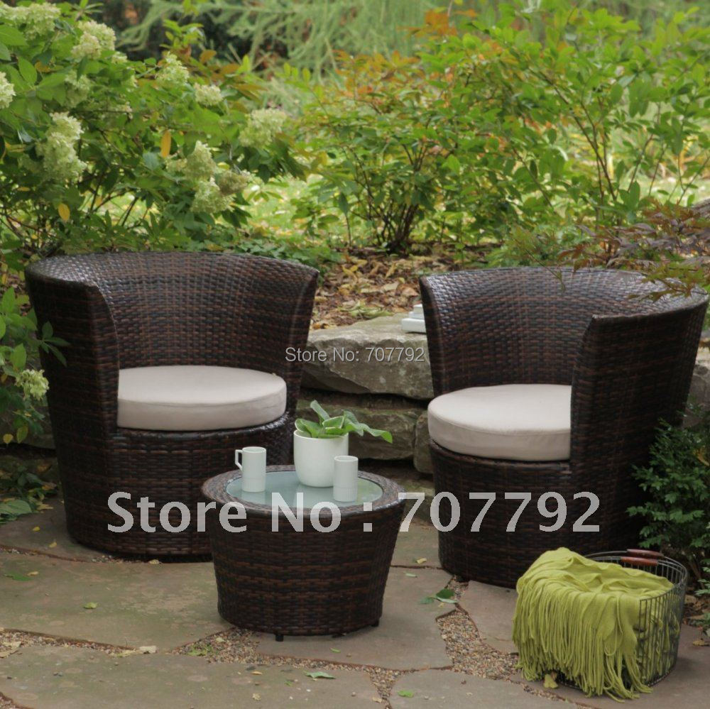 New Design Synthetic Rattan Modern All Weather Wicker Balcony Chat Set In Garden Sofas From Furniture On Aliexpress Alibaba Group