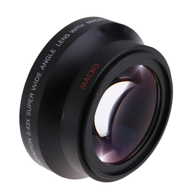 67mm Digital High Definition 0.43x SuPer Wide Angle Lens for Canon Rebel T5i T4i T3i 18 135mm 17 85mm for Nikon 18 105 70 300VR